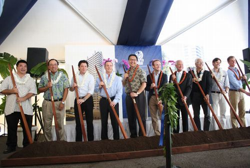 The Ritz-Carlton Residences, Waikiki Beach, East Tower holds Ground Breaking Ceremony